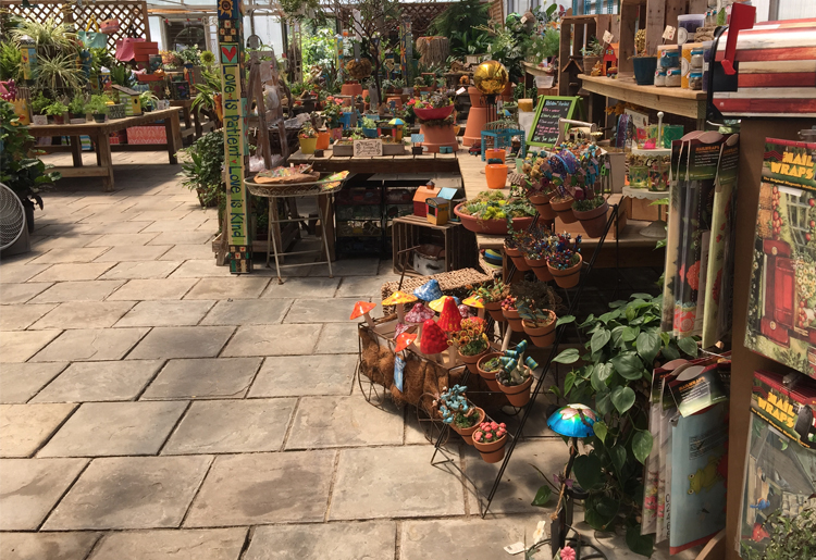 gift shop in greenhouse