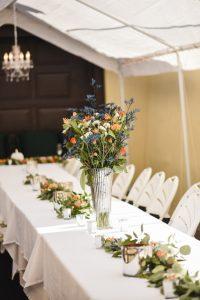 wedding table flower arangement